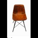 Krzesło Loftowe Skóra i Metal (FI-006)
