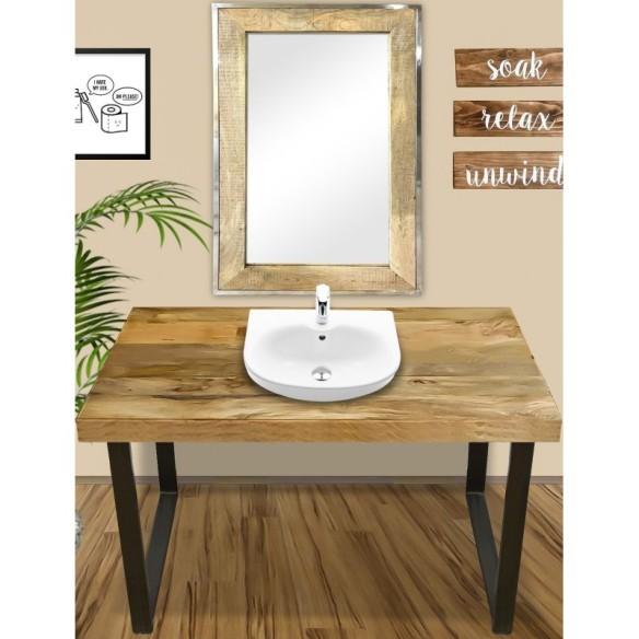 Stół z mango do umywalki na zamówienie 120x50x80 (MANGO-2021)