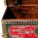 Indyjskie Rzezbione kufer Z Drewno Teakowego-(MM-001)