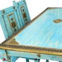 ELEGANCKI ORIENTALNY KOMPLET DO JADALNI z 6 krzesłami (STL-SET-180/02/ANTQ)