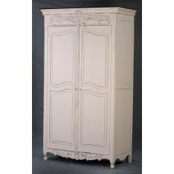 Kolonialne Meble bielone - Biała Szafa w stylu Paris (Paris-4)