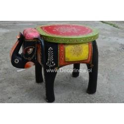Indyjski stolik taboret slon malowane(Slon-1)