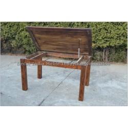 Meble Kolonialne – drewniany stół do jadalni 140x90 ze schowkiem rozkładany do 220 cm (RD-027E)