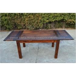 Meble Kolonialne – drewniany stół do jadalni 120x80 ze schowkiem rozkładany do 190 cm (RD-027F)