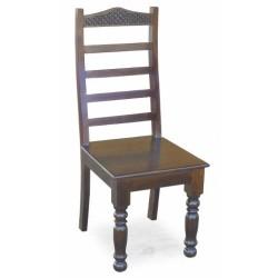 Meble Indyjskie - Krzesło na rzeźbionych nogach (RD-008)