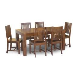 Meble Indyjskie – klasyczny drewniany stół do jadalni 160x90 cm (RD-027)