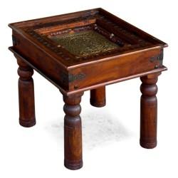 Zdobiny stolik pod lampę na rzeźbionych nogach (RD-012)