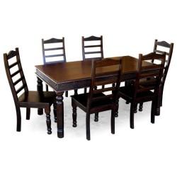Meble kolonialne – antyczny drewniany stół do jadalni (RD-004)