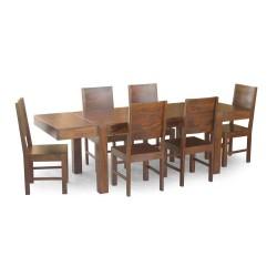 Meble Kolonialne – masywny drewniany stół do jadalni 160x90 rozkładany do 250 cm (RD-105)