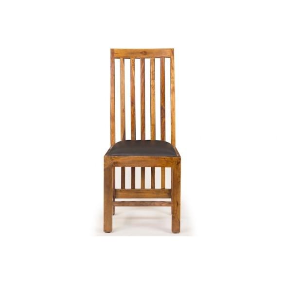 Meble indyjskie  - krzesło skórzane (RD-090)