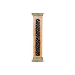 Meble Indyjskie – stylowa kolorowa szafka na płyty CD/DVD postarzana (SDA-019B)