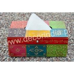 Indyjski Kolorowe Pojemnik na chusteczki (RD-GA-48I)
