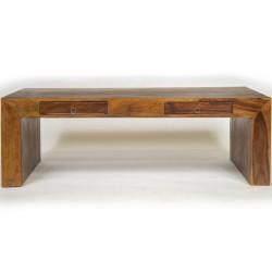 Meble  Kolonialne - Podłużny stolik kawowy z szufladami  (RD-032)
