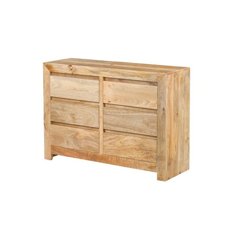 Nowoczesna komoda z szufladami - egzotyczne drewno
