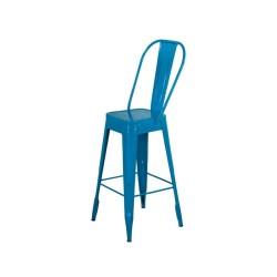 Meble Industrialne – hoker metalowe industrialne krzesło barowe (INDS-CH-03B)