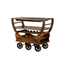 Meble Industrialne – drewniany regał na wino – barek(RD-082A)