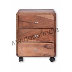 Meble Kolonialne - Klasyczna drewniana szafka nocna (RD-145)