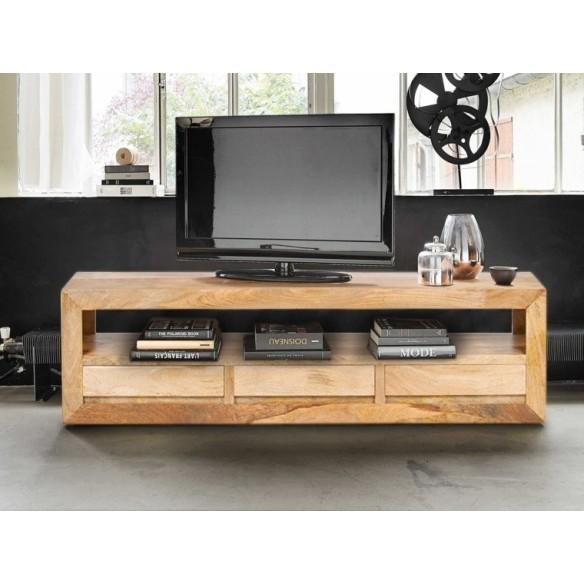 Klasyczna szafka pod sprzęt RTV z szufladami