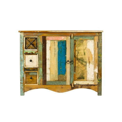 Meble orientalne - kolorowa komoda postarzana (GOA-5116)