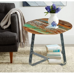 Meble vintage - stolik kawowy z metalowymi nogami (VINTAGE-17)