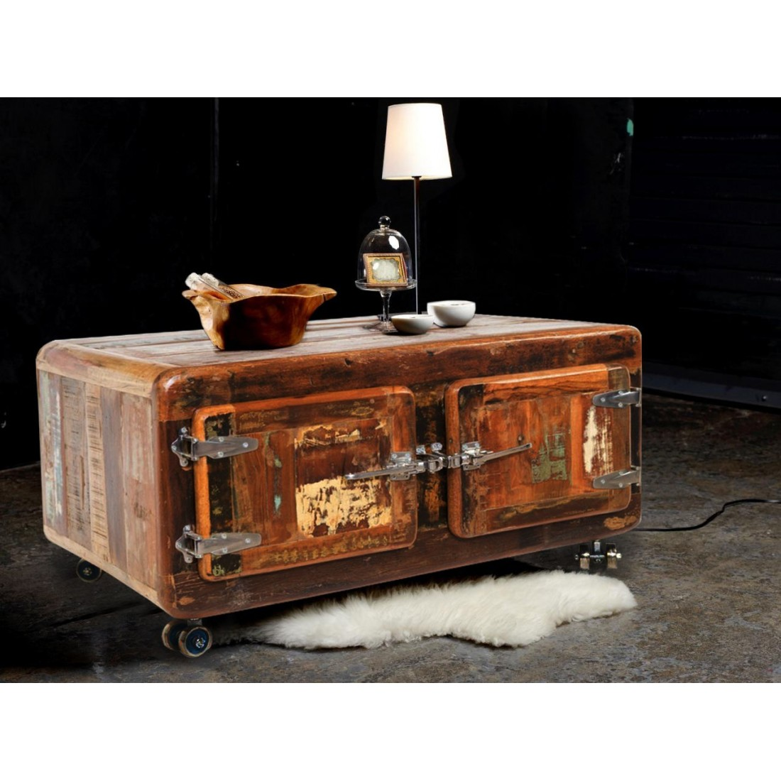 indian furniture cabinet for vintage coffee table with door
