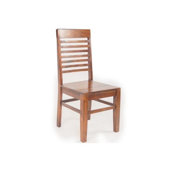 Meble Indyjskie - Tradycyjne drewniane krzesło z wysokim oparciem (RD-003)