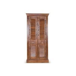 Meble orientalne – antyczna drewniana szafa dwudrzwiowa z teaku (SDA-005B)