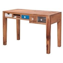 Meble loftowe z akacji- nowoczesne biurko z szufladami (HL-4)