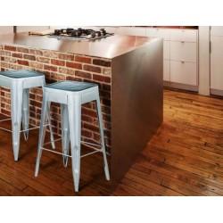 Meble Industrialne - hoker metalowe krzesło barowe stolik (INDS-CH-07C)