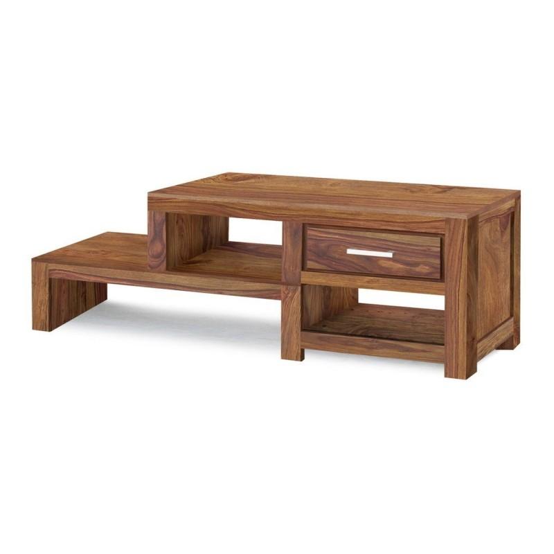 Meble z palisandru - drewniany stolik z szufladką (MTR-116)