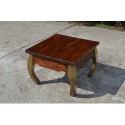 Meble  kolonialne - stolik kawowy z mealowymi nogami (RD-086B)