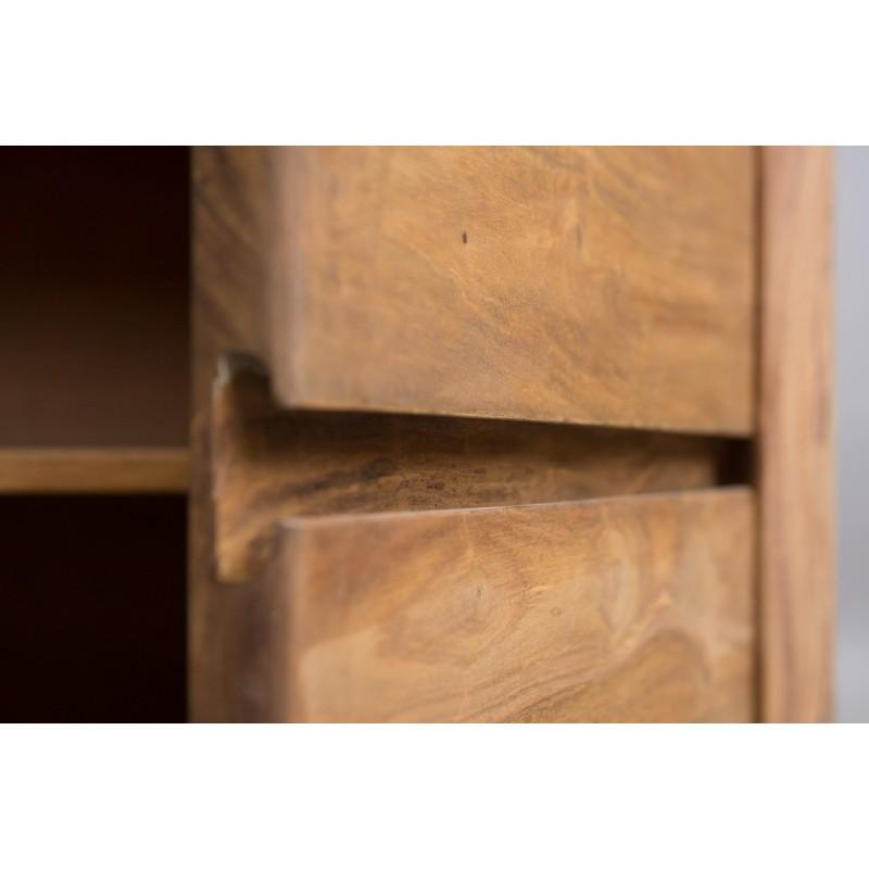 Meble z naturalnego palisandru - witryna z szufladami (NY-101)