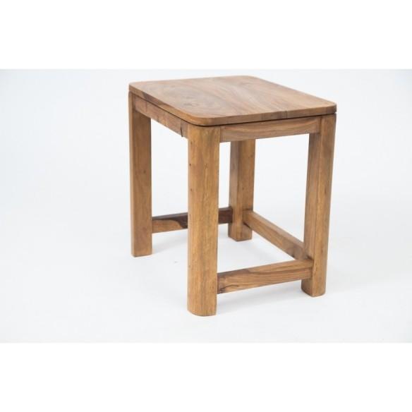 Meble z naturalnego palisandru - komplet stolik i taboret (NY-117)