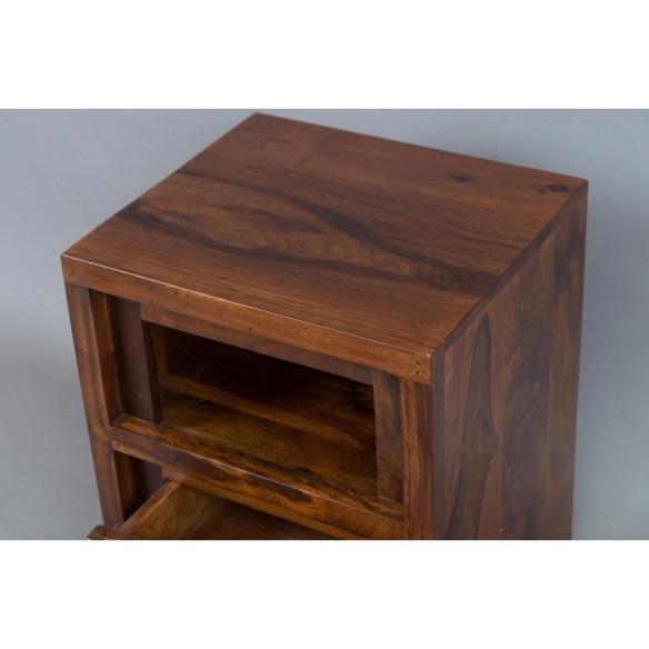 Meble Indyjskie - Klasyczna drewniana szafka nocna (RD-092B)