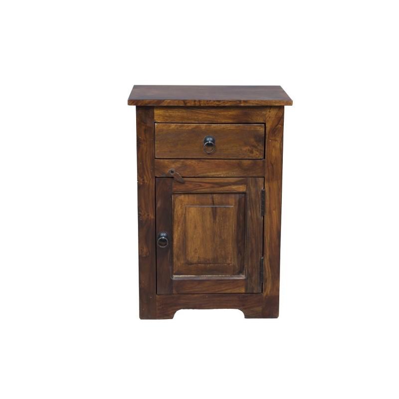 Meble kolonialne - klasyczna drewniana szafka nocna (Royal-13)