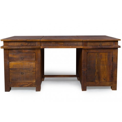Meble indyjskie - biurko z szufladami w stylu kolonialnym (RD-080B)