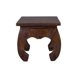 Meble kolonialne - kolonialny stolik opium z szufladką (RD-086A)