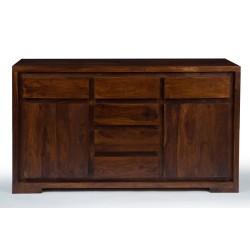 Meble Indyjskie - Nowoczesna komoda z szufladami - egzotyczne drewno (RD-096A)