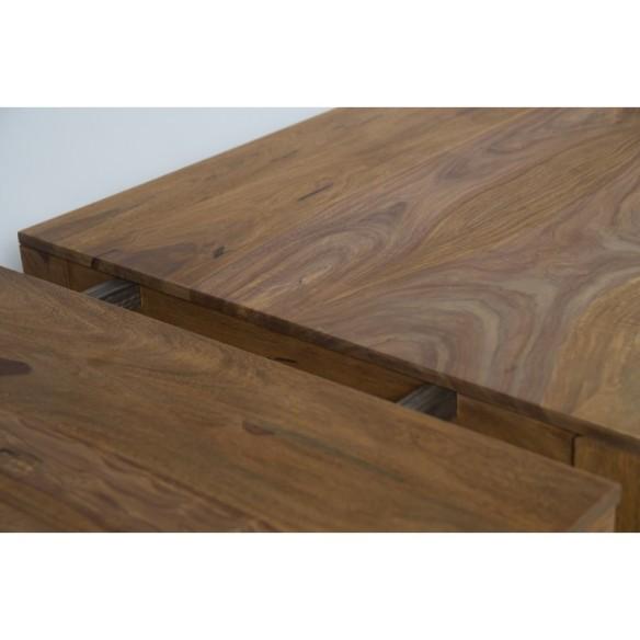 Meble z naturalnego palisandru - stół do jadalni rozkładany (NY-109A)