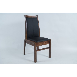 Meble z naturalnego palisandru - krzesło tapicerowane (mtr-135)
