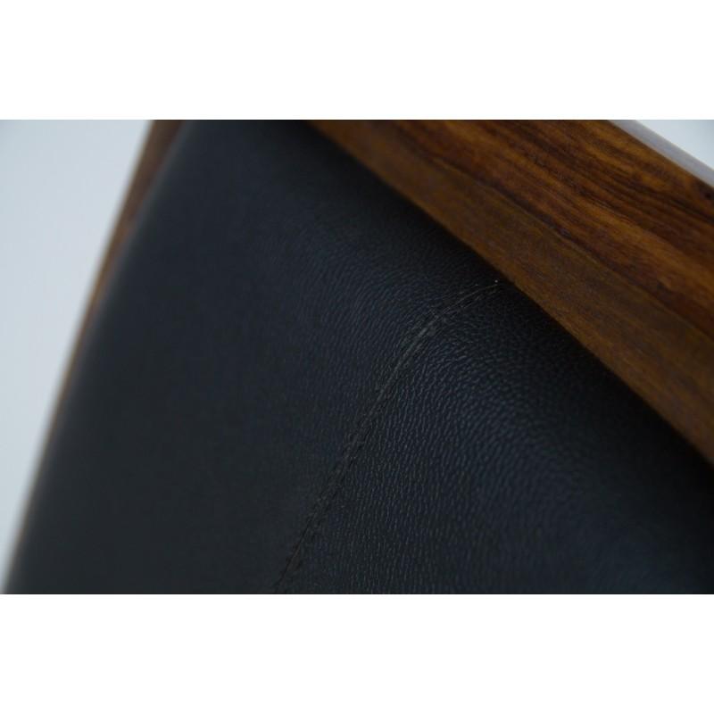 Meble z naturalnego palisandru - krzesło tapicerowane (NY-137)
