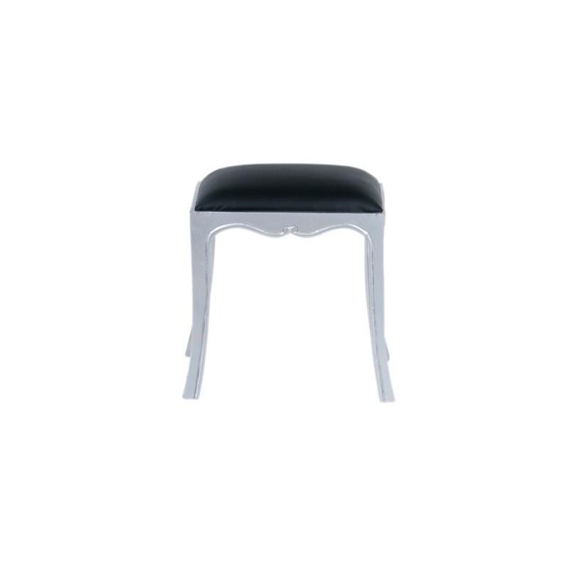 Meble glamour - srebrny stołek (Glam-08)