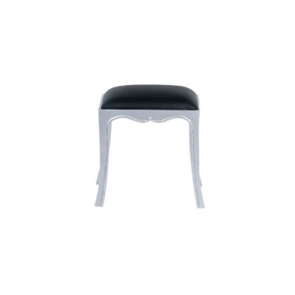 Meble glamour - srebrny stołek(Glam-08)
