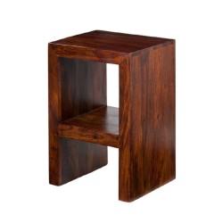 Meble indyjskie - Klasyczna drewniana szafka nocna (RD-092A)