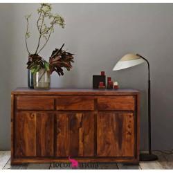 Meble Indyjskie - Nowoczesna komoda z szufladami - egzotyczne drewno (RD-096)