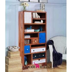 Meble loftowe z akacji – biblioteka/regał z akacji (HL-6)