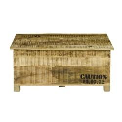 Meble Industrialne - drewniana skrzynia w stylu industrialnym (RD-2202A)