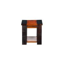 """Meble z akacji """"CLASSIC"""" - drewniany dwukolorowy stolik z półką (Classic-7)"""