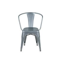 Meble Industrialne - metalowe industrialne krzesło do jadalni (INDS-CH-07H)