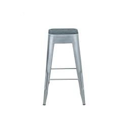 Meble Industrialne - hoker metalowe krzesło barowe stolik (INDS-CH-07B)